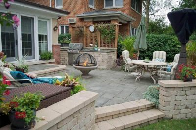 Pergola by Old World Brick Paving