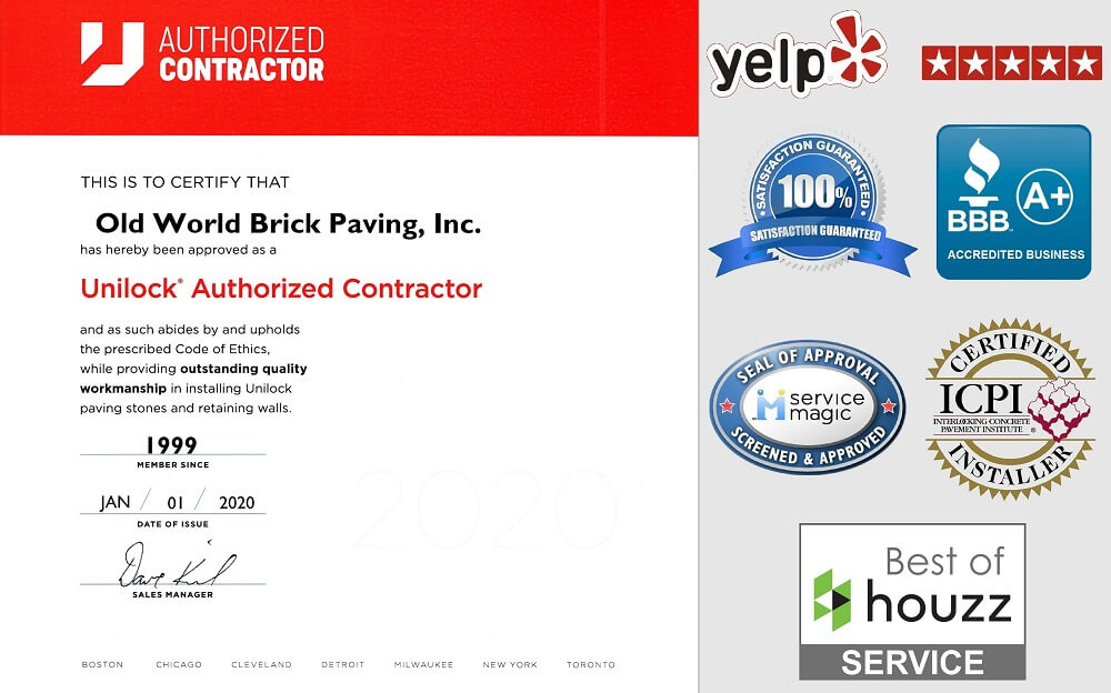 Certified Brick Paver Installation