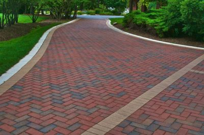 paver brick driveway by Old World Brick Paving